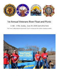 1st Annual Veterans River Float and Picnic