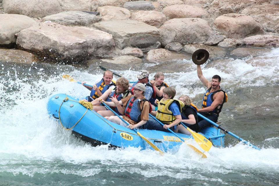 Summer time flow on the Animas River in Durango