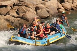 whitewater raft on the Animas River in Durango Colorado