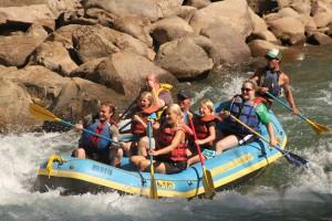 whitewater raft on the Animas River in Durango Colorado