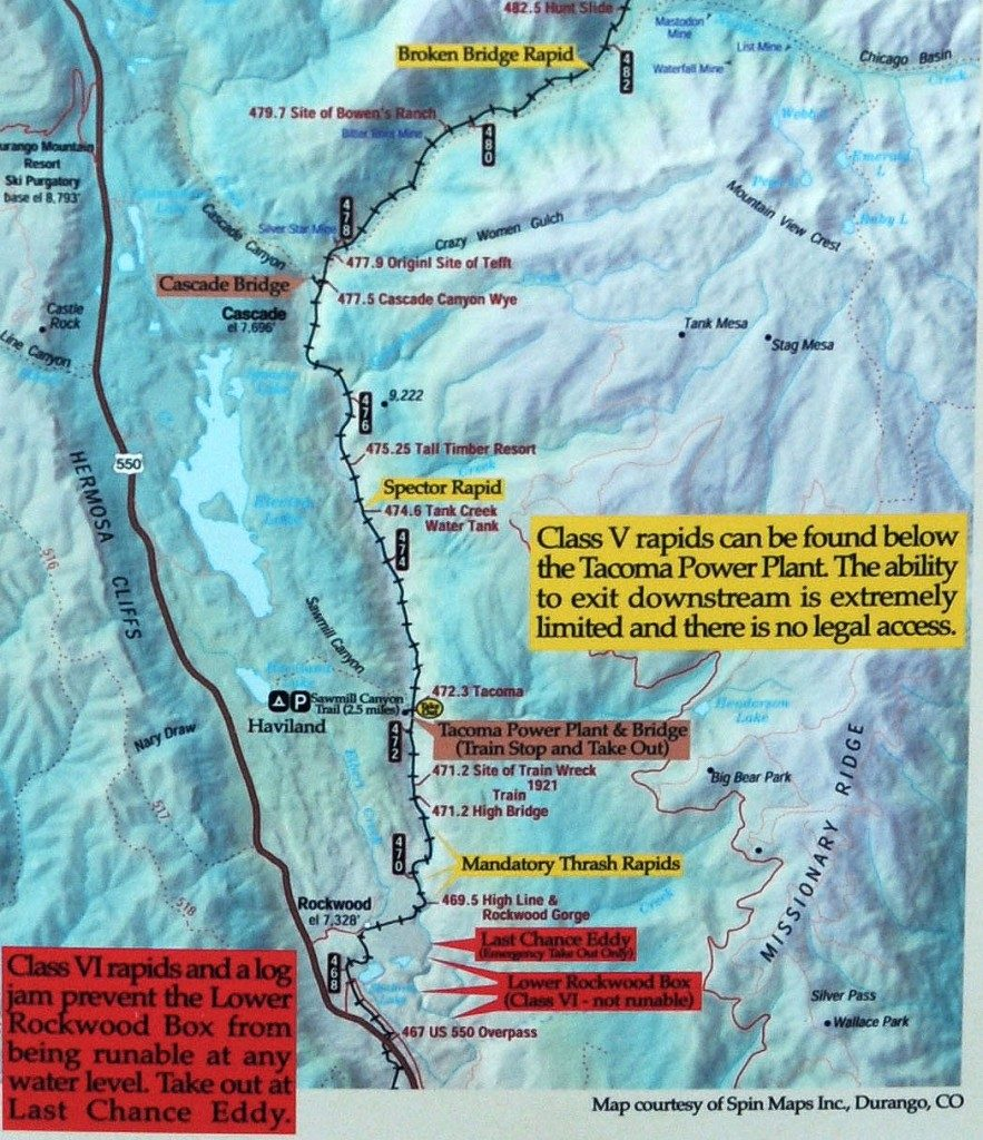 Mountain-Waters-Rafting-Upper-Animas-River-Needleton-Rockwood-Box-Map