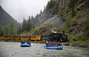 Train to of from Silverton Raft in Durango
