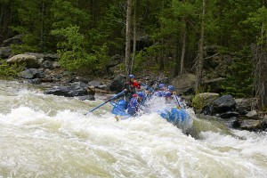 Running Broken Bridge Rapid with Mountain Waters Rafting!