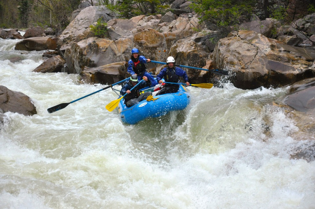 No Name Rapid, Class V, mile 10, Upper Animas River, Mountain Waters Rafting