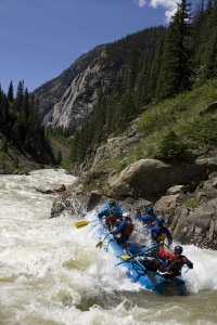 Snow Shed Rapid, Class IV, mile 4, Upper Animas River Silverton Stretch