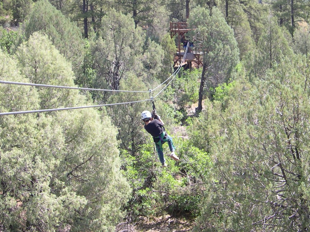 9 year old Leo couldn't get enough of the zip line and rafting!
